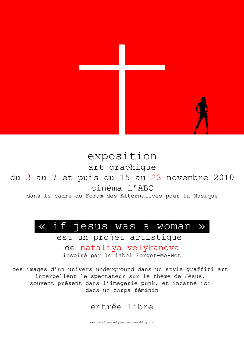 affiche exposition if jesus was a woman, nataliya velykanova © 2010