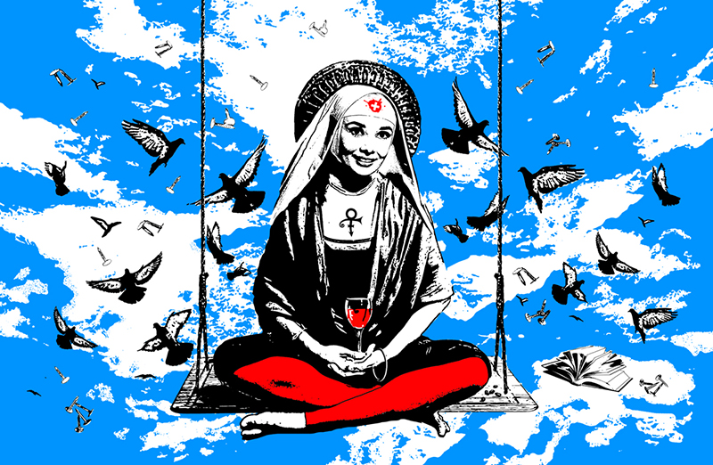 une sainte, if buddha was a woman project, nataliya velykanova © 2011